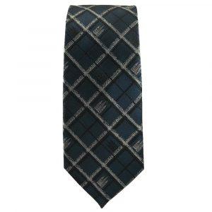 JB - Tie - Mens Salt Lake Temple Navy Plaid Tie<BR>ネクタイ(成人)ソルトレーク神殿 プラッド (ネイビー)