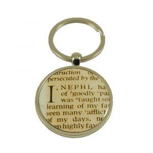 "JB - Key Ring - ""I, Nephi"" Book of Mormon Scripture Key Ring<BR>キーリング -  モルモン書  ""わたしニーファイは…"""