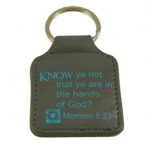 """JB - Key Ring - """"Know ye not that ye are in the hands of God?"""" Mormon 5:23 Scripture Key Ring<BR>キーリング - 「あなたがたは神の手の内にある」モルモン書5:23"""