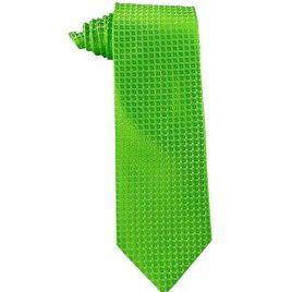JB - Mens Tie - BRIGHT Apple Green <BR>ネクタイ (成人サイズ) ブライト アップル グリーン