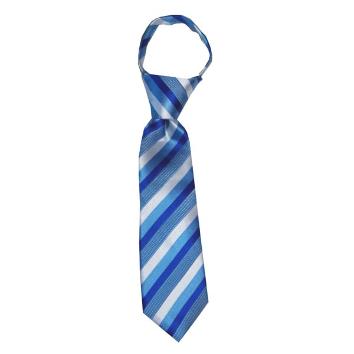 JB - Toddler Tie - Capri, Cornflower and Horizon Blue Stripes<BR>幼児ネクタイ(1〜4歳) カプリ コーンフラワー&ホリズンブルーストライプ