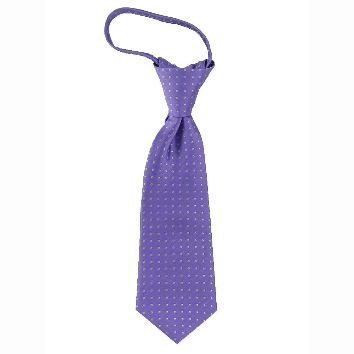JB - Toddler Tie - Bright Wisteria Purple with white dots<BR>幼児ネクタイ - 白い水玉X明るい藤の紫