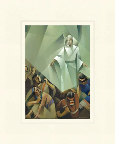 AF - 5x7 - Print - Alma and the Sons of Mosiah by Jorge Cocco - 5x7 - Print - 5x7 print matted to 8x10<BR>アルマとモーサヤの息子たち 20.3cm x 25.4 cm