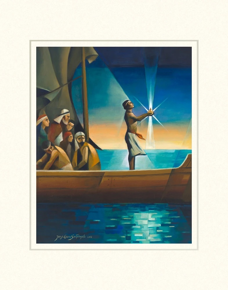 AF -11×14 Print - Nephi and the Liahona 11x14 mat /Jorge Cocco<BR>ニーファイとリアホナ 11×14 マットプリント