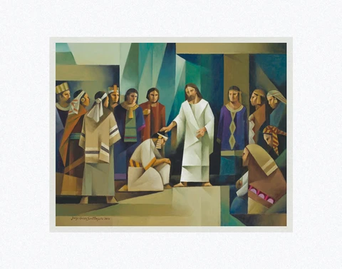 AF - 8x10 - Print - Calling of the Twelve Disciples in America by Jorge Cocco - 8x10 - Print - 8x10 print matted to 11x14<BR>アメリカで十二使徒を召す 27.9 cm x 35.6 cm