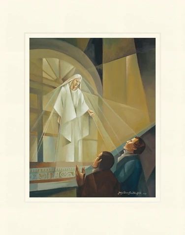 AF - 8x10 - Print - Vision at Kirtland Temple by Jorge Cocco - 8x10 - Print - 8x10 print matted to 11x14<BR>カートランド神殿での示現 27.9 cm x 35.6 cm