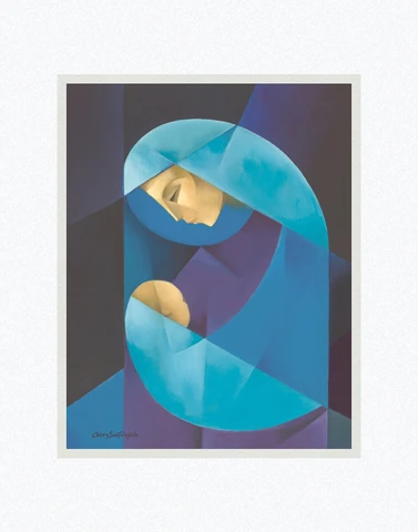 AF - 8x10 - Print - Madonna and Child by Jorge Cocco - 8x10 - Print - 8x10 print matted to 11x14<BR>聖母と御子 27.9 cm x 35.6 cm