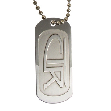 RM - Necklace - Dogtag CTR Regular Stainless Steel<BR>CTRレギュラーステンレススチールネックレス