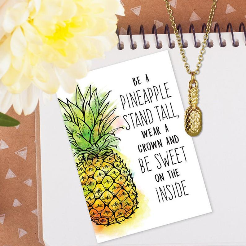 RM - Necklace - Be A Pineapple - Gold Finish Necklace<BR/>パイナップルのようになろう(金色ネックレス)