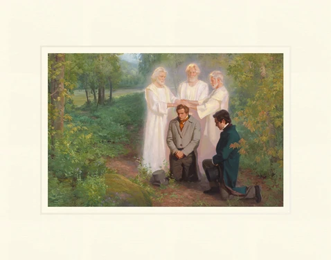 AF - 7x10.5 - Print - Keys of the Kingdom by Linda Curley Christensen and Michael Malm - 7x10.5 - Print - 7x10.5 print matted to 11x14<BR>王国の鍵 27.9 cm x 35.6 cm