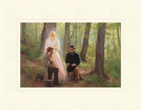 AF - 7.5x11.25 - Print - Upon You My Fellow Servants by Linda Curley Christensen and Michael Malm - 7.5x11.25 - Print - 7.5x11.25 print matted to 11x14<BR>我が弟子 27.9 cm x 35.6 cm