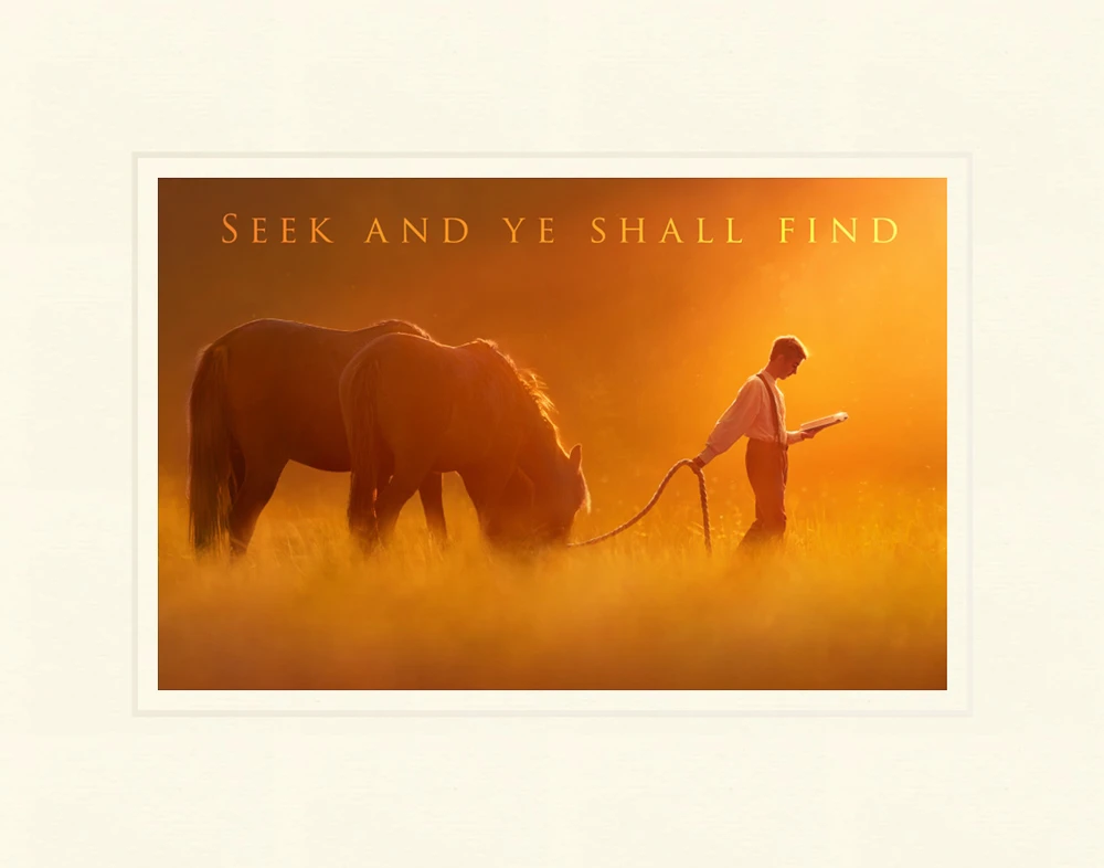 AF -11×14 Print - Seek and Ye Shall Find 11x14 matted print /Kelsy and Jesse Lightweave<BR>「探せ、そうすれば見出すであろう」 11×14 マットプリント