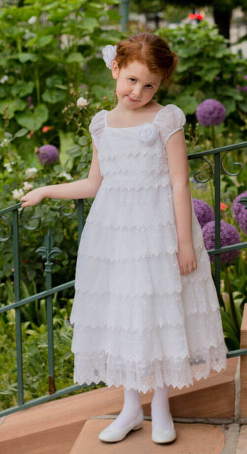 WE - Baptism Dress  Lace Frosting<BR>子供用バプテスマ衣装 「レースフロスティング」