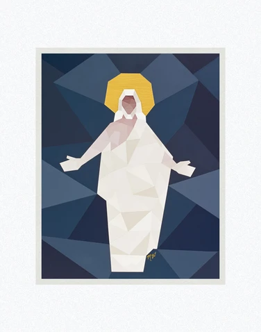 AF - 8x10 - Print - All Are Alike Unto God by Madison Wardle - 8x10 - Print - 8x10 print matted to 11x14<BR>私たちは神に形どられている 27.9 cm x 35.6 cm