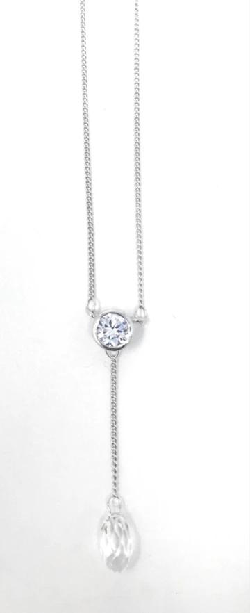 CF - Necklace - Raindrop Necklace - Swarovski Crystal<BR>レインドロップ(雨滴)ネックレス(スワロフスキークリスタル)