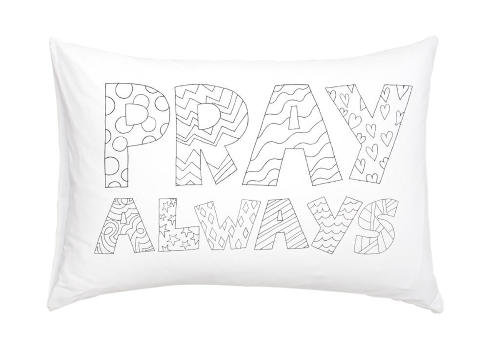 CF - Pillowcase - Pray always coloring pillowcase<BR>いつも祈りましょう枕カバー