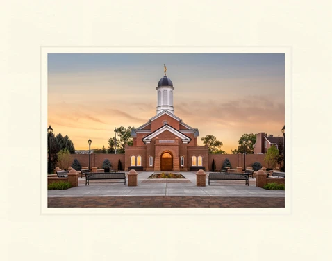 AF - 7x10.5 - Print - Vernal Temple - Sunset by Robert A Boyd - 7x10.5 - Print - 7x10.5 print matted to 11x14<BR>ユタ州 バーナル神殿「サンセット」 27.9 cm x 35.6 cm