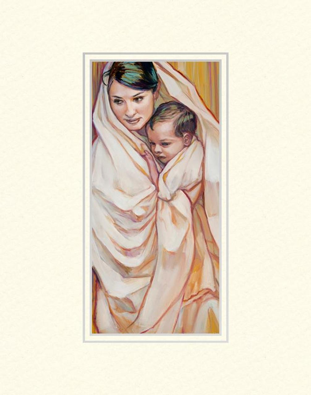 AF -11×14 Print - Mary and Child 11x14 mat /Rose Datoc Dall<BR>マリアと子 11×14 マットプリント