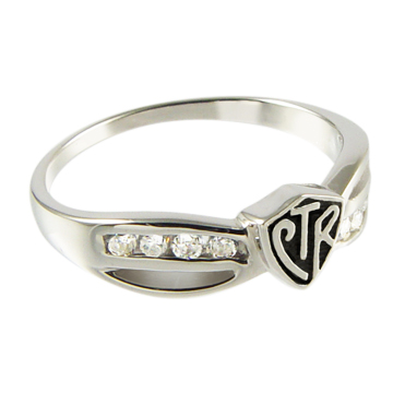 RM - CTR Ring - CTR Bow Antiqued Sterling Silver (シルバー製)