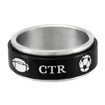 RM - CTR Ring - CTR Black Sports Spinner <BR>CTRリング ブラック スポーツ スピナー