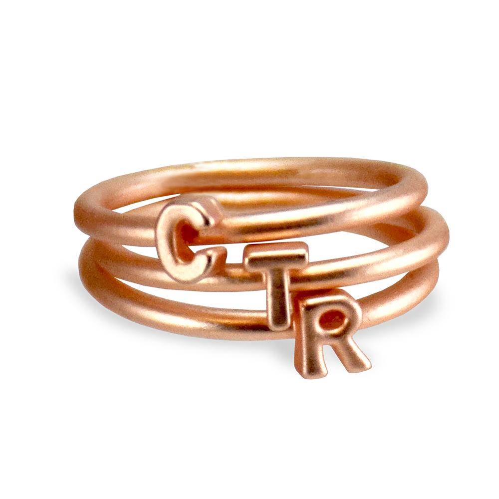 RM - CTR Ring - CTR Stackable Letters Ring<BR>CTR スタッカブル レター リング