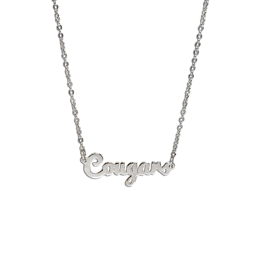 RM - Necklace - BYU Cougars Script Necklace <BR>BYU(ブリガム・ヤング大学)公式マーク クーガーズ スクリプト ネックレス