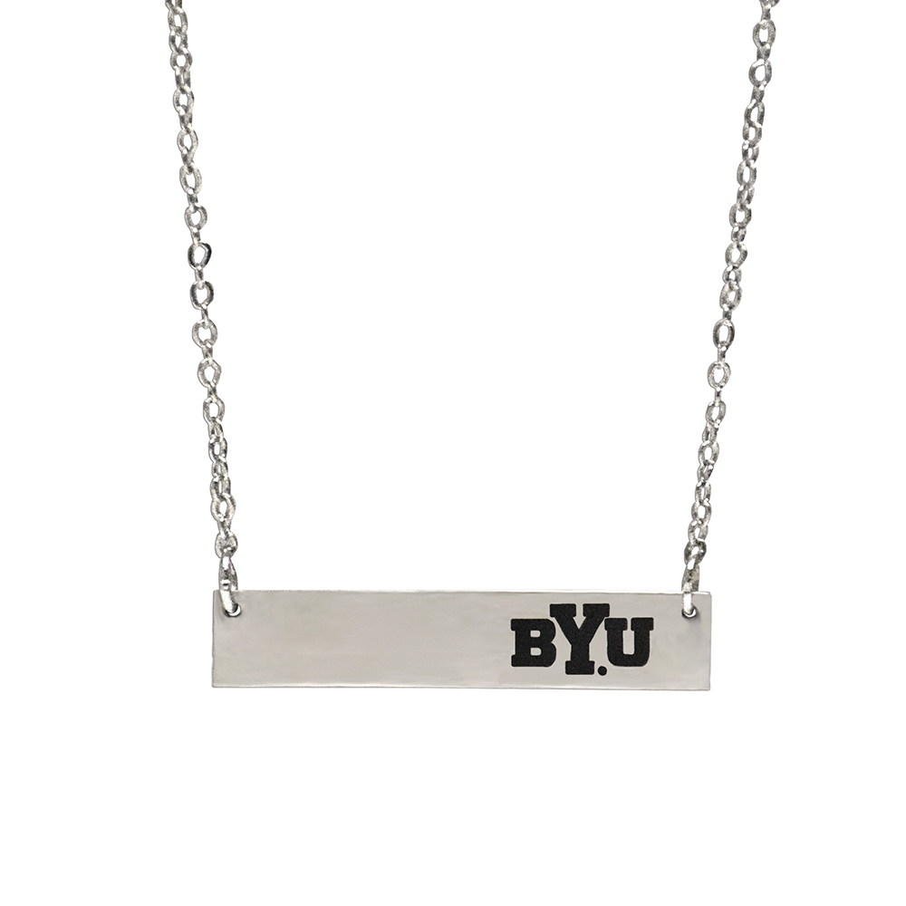 RM - Necklace - BYU Bar Necklace<BR>BYU(ブリガム・ヤング大学)公式マーク バー ネックレス