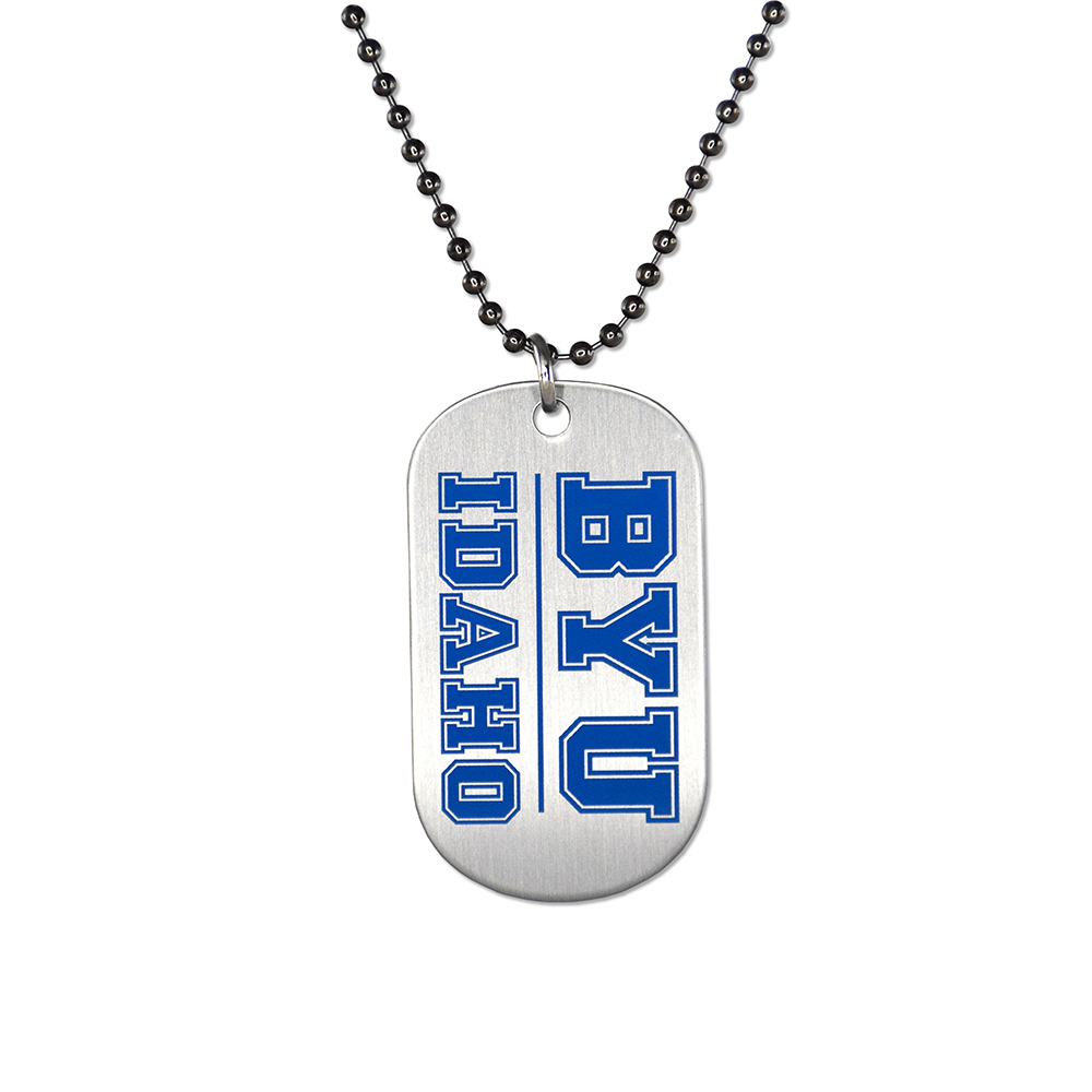 RM - Necklace - BYU-Idaho Dog Tag <BR>BYUI(ブリガム・ヤング大学アイダホ校)公式マーク ドッグタグネックレス