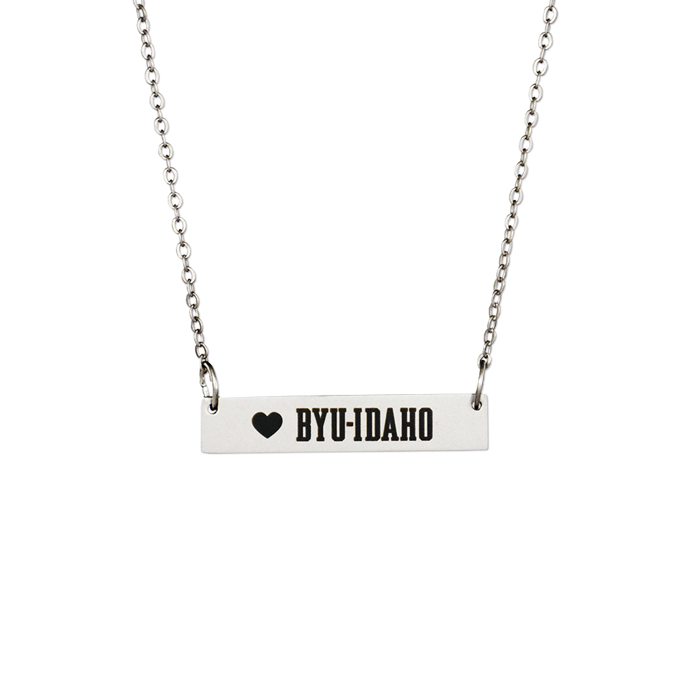 RM - Necklace - BYU-Idaho Bar Necklace <BR>BYUI(ブリガム・ヤング大学アイダホ校)公式マーク バー ネックレス