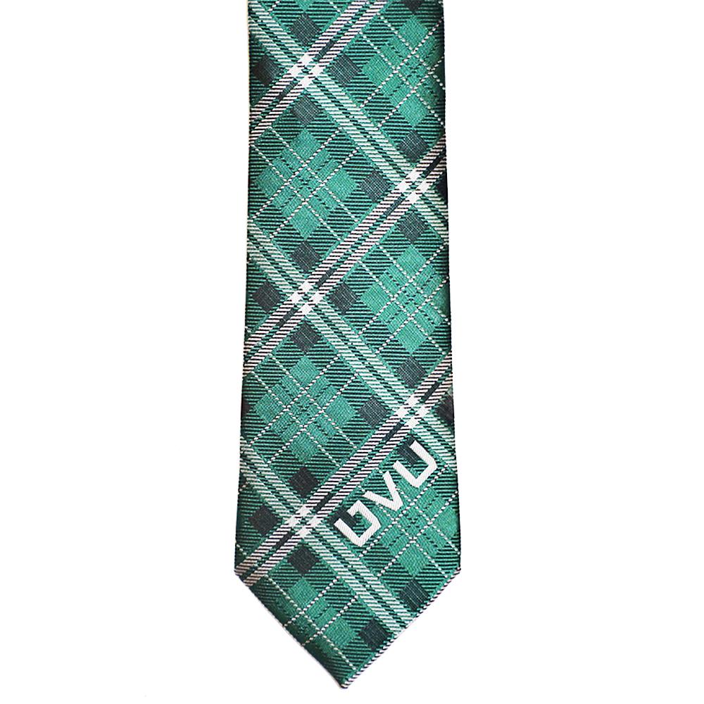 RM - Tie - Utah Valley Men's Plaid Tie <BR>UVU(ユタ ヴァレー大学)公式 チェック柄 ネクタイ(成人)