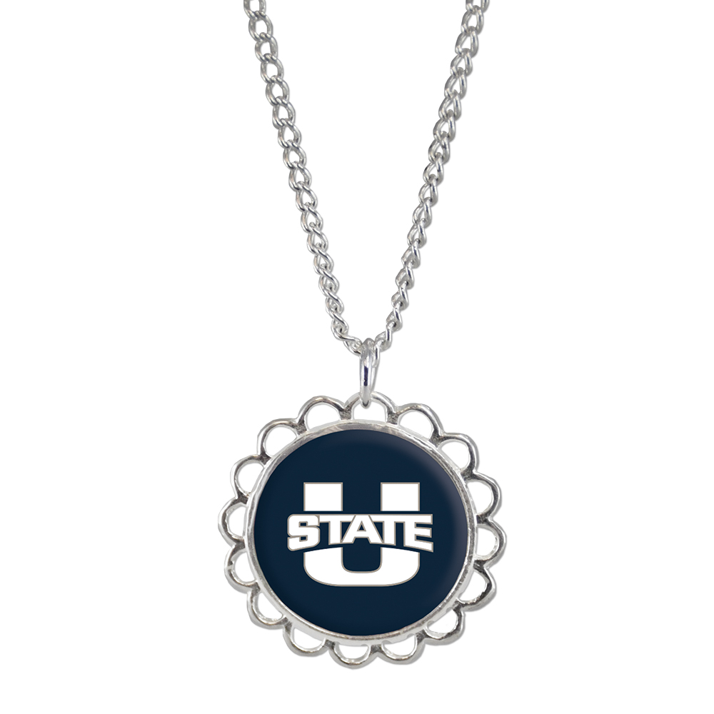 RM - Necklace - Utah St. Domed Necklace<BR>USU(ユタ州立大学)公式マーク ドーム ネックレス