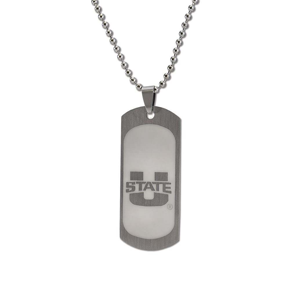 RM - Necklace - Utah State Dog Tag <BR>USU(ユタ州立大学) 公式マーク ドッグタグネックレス