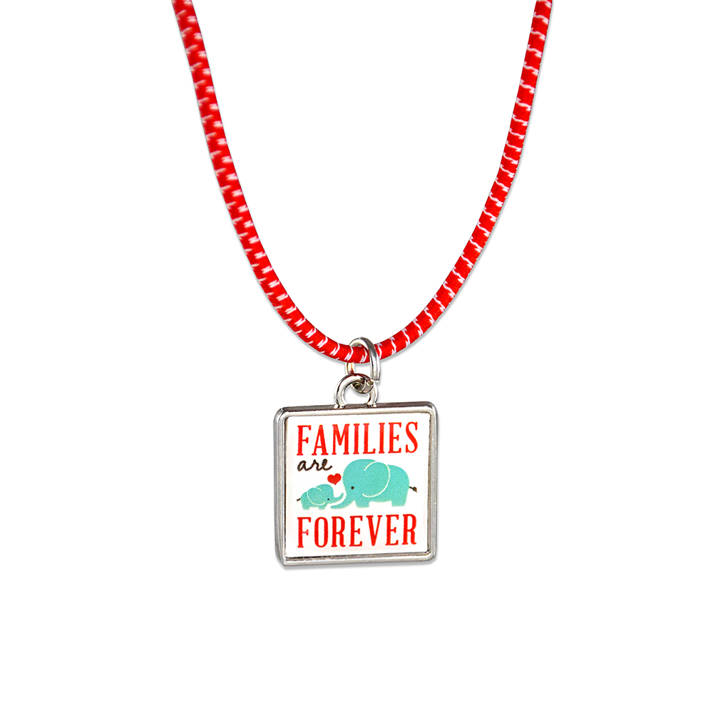 RM - Necklace - Families are Forever Necklace <BR>ネックレス - 家族は永遠です(ぞうの親子)