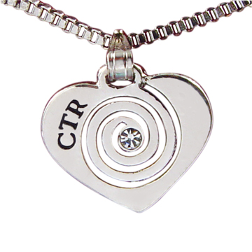 RM - Necklace - CTR Heart w/Stone Necklace<BR>ネックレス - CTR ホワイトストーン 【日本在庫商品】