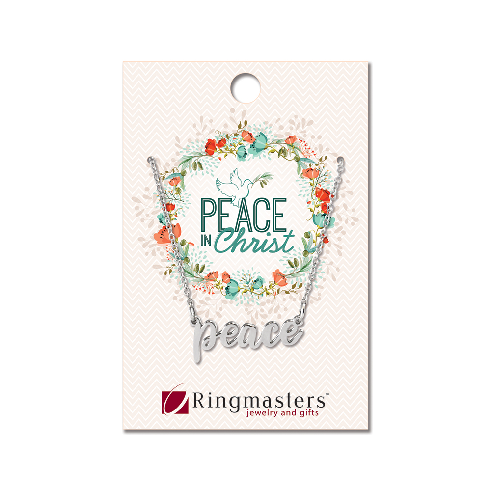 RM - Necklace - Peace in Christ Script Necklace <BR>ネックレス - キリストによって平安を得る【在庫限り】