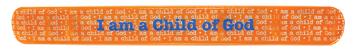 RM - Bracelet - CHILD OF GOD ORANGE SLAP BRACELET <BR>スラップブレスレット - かみのこです(オレンジ)