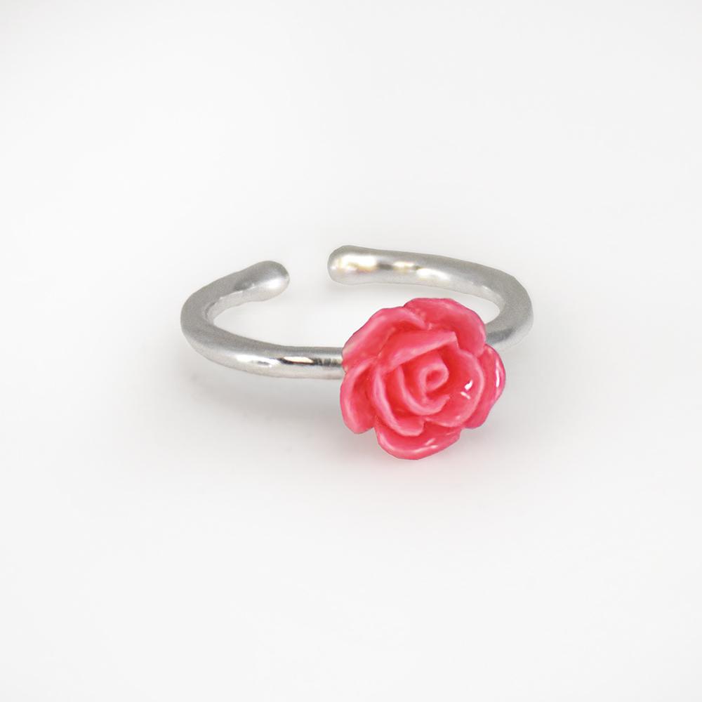 RM - Ring - Adjustable Rose Ring<BR> リング(フリーサイズ) - ローズ(マイアメイド)