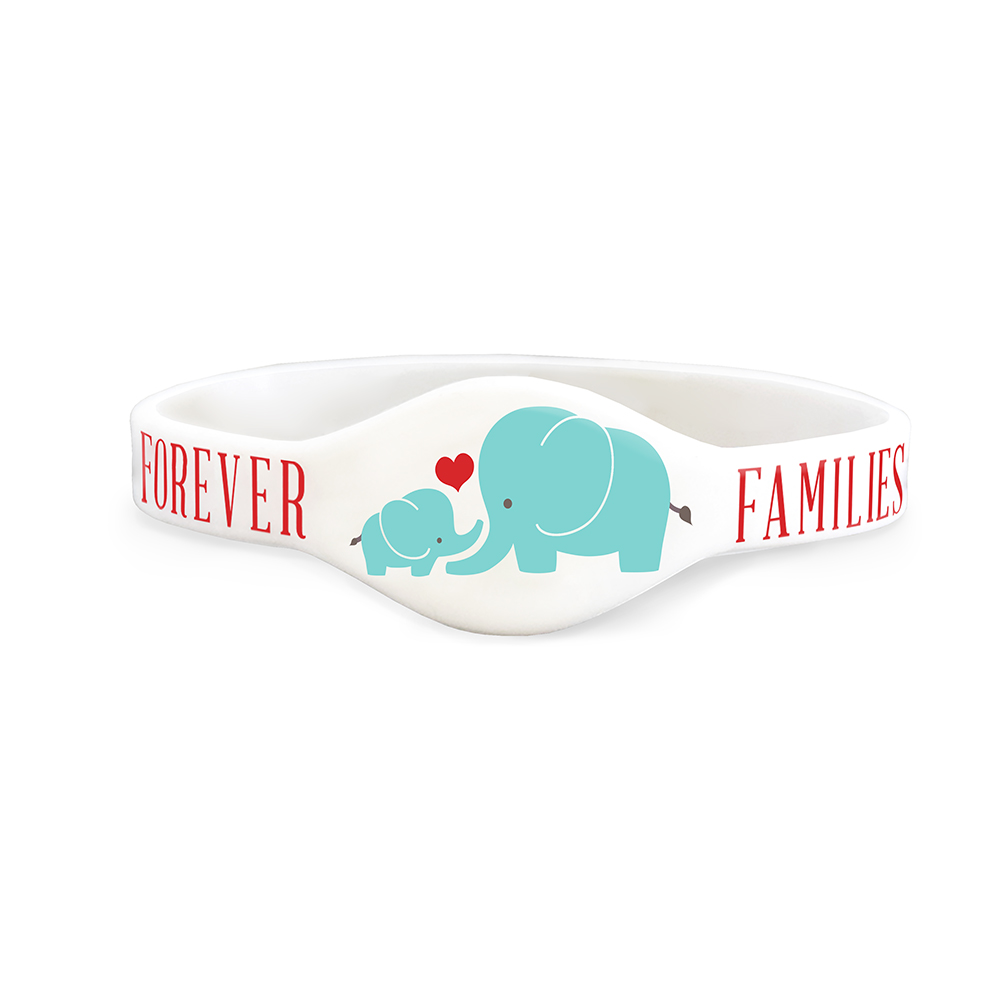 RM - Wristband - Families are Forever Wristband - M<BR>リストバンド - 家族は永遠です(ぞうの親子) 【Mサイズ】