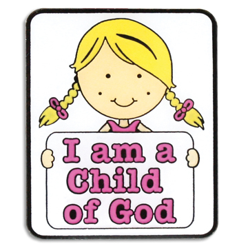 RM - Pin - CHILD OF GOD GIRL <BR>ピン 神の子です (女の子)