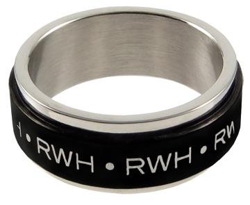 (サイズ限定US 6.0)RM - CTR Ring - RWH Spinner Stainless Steel Black-Silver 【在庫1点限り】