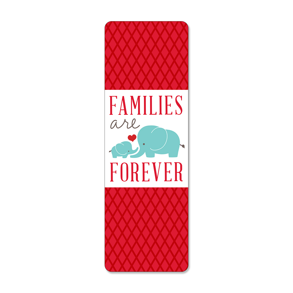 RM - Bookmark - Families are Forever Bookmark<BR>しおり - 家族は永遠です(ぞうの親子)