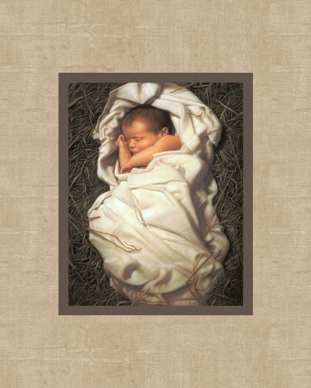 """AF - 8×10 - mat - """"For Unto Us a Child Is Born"""" by Simon Dewey<BR>8×10 マットプリント 「私たちに幼子が与えられた」サイモン・デューイ 画"""
