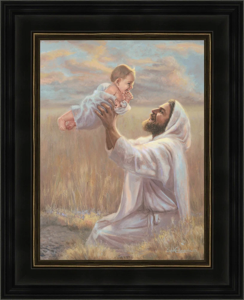 AF - 12x14 framed - Heaven Sent by Susan Edwards -Print - Dark Wood Frame  (Outside Dimension 12x14)<BR>12x14  フレーム付き(黒) 「天から贈られたもの」スーザン・エドワーズ 画