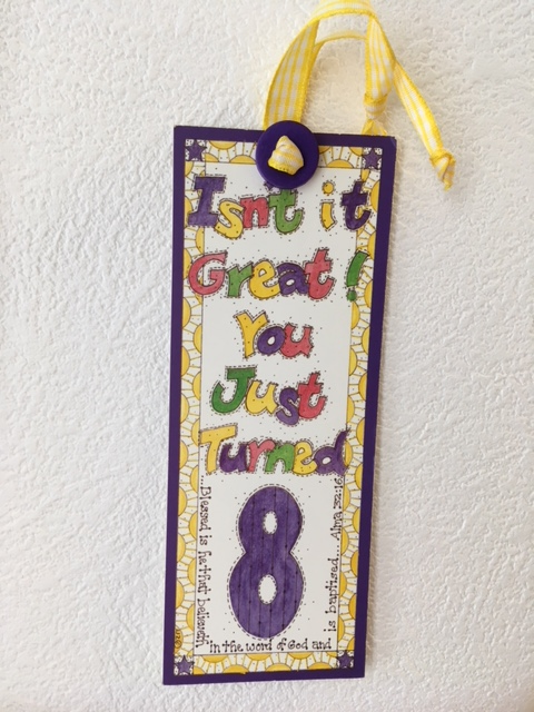 SZ - Bookmark - Baptism - Isn't it Great! You Just Turned(Yellow Ribbon)<BR>しおり - バプテスマ - 8歳って最高!(イエローリボン) 【日本在庫限り】