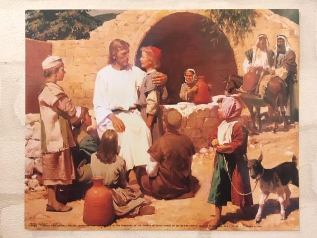 SZ - 8×10 print - Jesus with Children <BR>8×10 print - イエスとこども(赤い帽子) 【在庫限り】