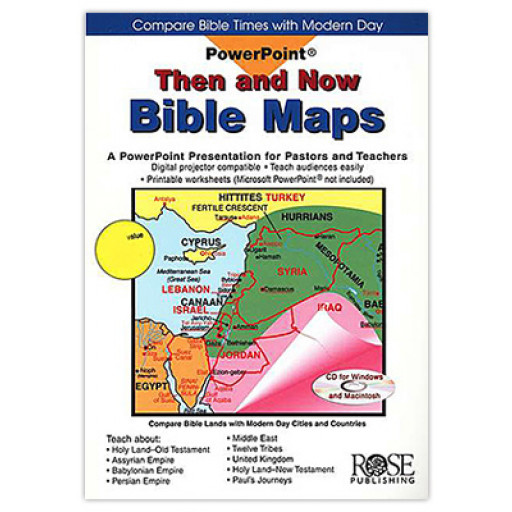 SZ - Hardcover - Then And Now Bible Maps PowerPoint 【在庫限りあと1点】