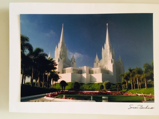 SZ - Card with Envelopes - Sandiego Temple<BR>カード(封筒付) - サンディエゴ神殿 【在庫限り】