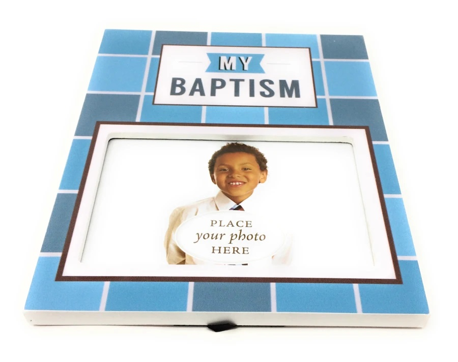 CF- Baptism - Picture Frame - Boy<BR>バプテスマの写真を入れる額(男の子)