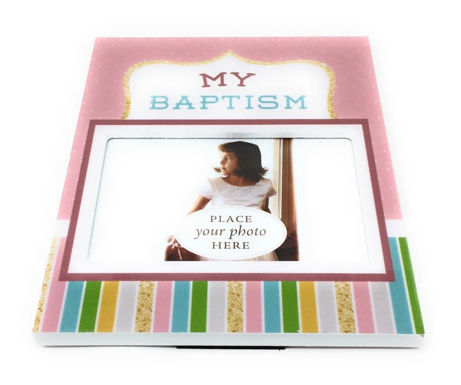 CF- Baptism - Picture Frame - Girl<BR>バプテスマの写真を入れる額(女の子)