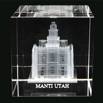 RM - Temple Crystal Cube - Manti Utah   <BR/>「ユタ州 マンタイ神殿」クリスタルキューブ